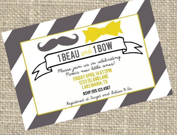 baby shower gift for twins invite