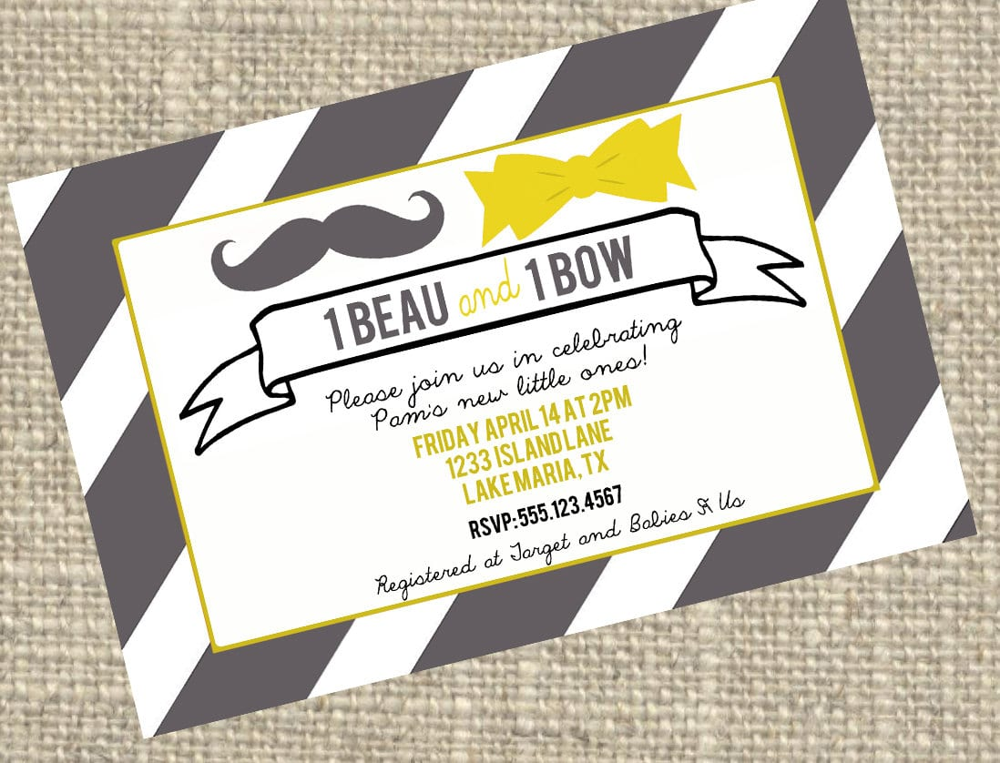 Twin Baby Shower Invite 1098 x 838