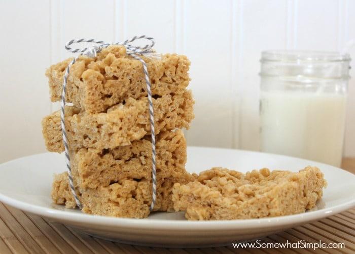 biscoff rice crispie treats 1