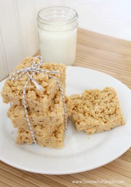 biscoff rice crispie treats 4