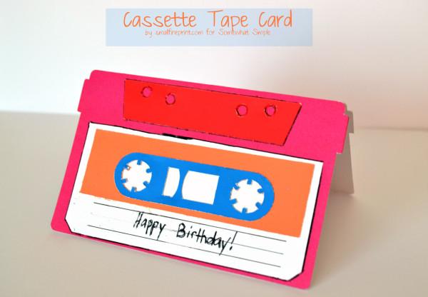 cassette tape card