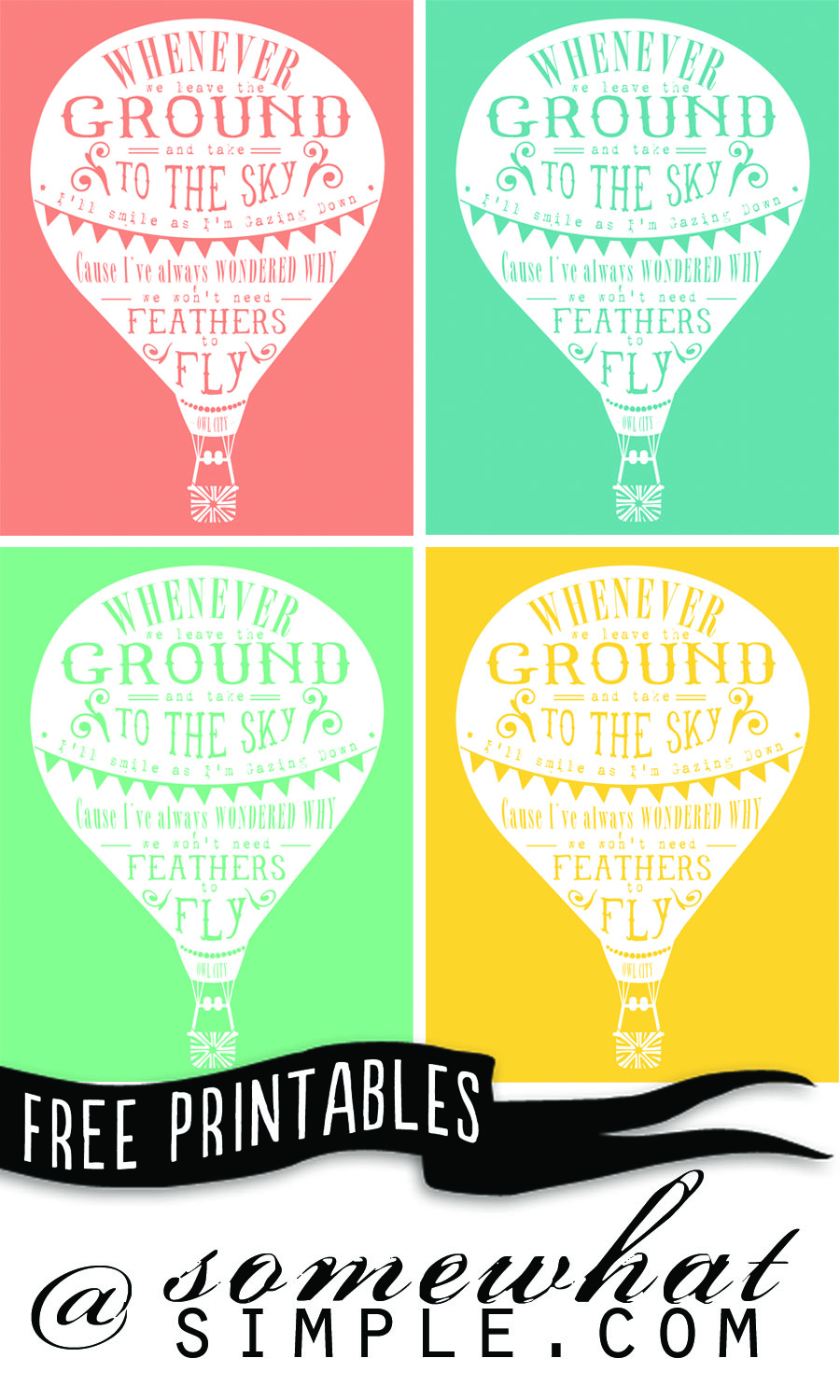 free hot air balloon printable at somewhat simple