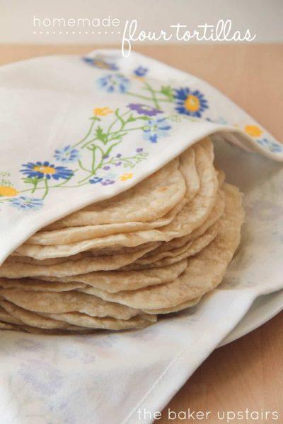 easy to make homemade flour tortillas recipe