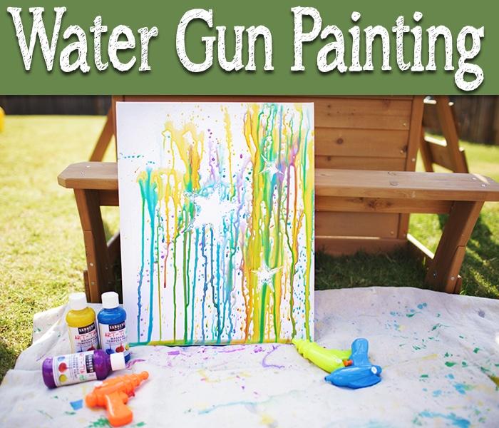 Water Gun Painting - Somewhat Simple