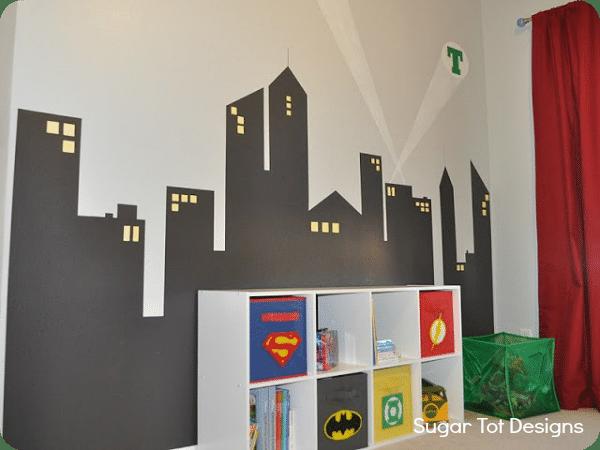 013 superhero wall