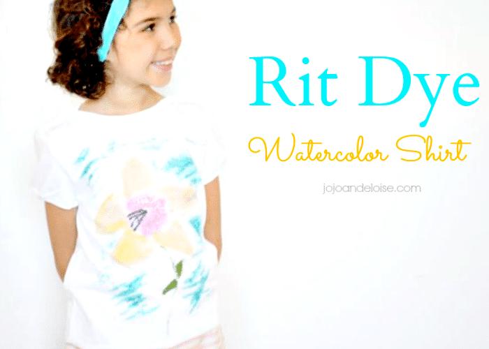 Rit Dye #watercolor shirt #kids craft project jojoandeloise.com
