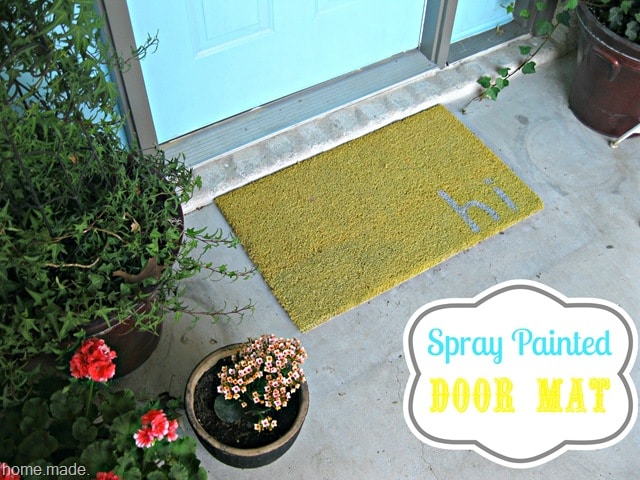 Diy spray painted doormat somewhat simple for Spray paint makeovers