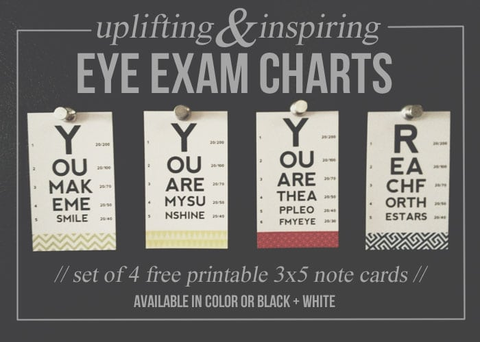 free eye exam notes in color