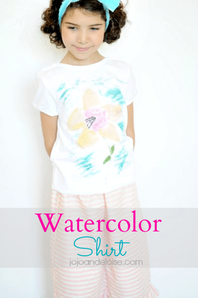 how to make a watercolor shirt #kids jojoandeloise.com