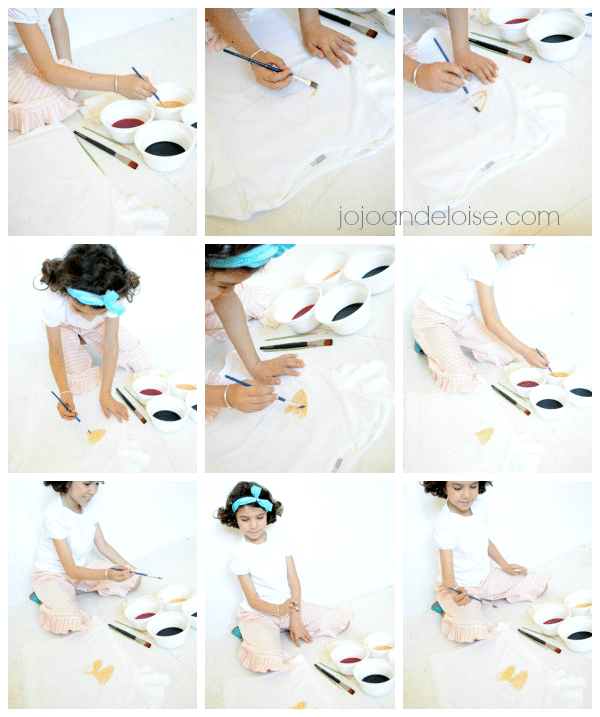 how to use Rit Dye to make a watercolor #kidscraft shirt jojoandeloise.com #kids