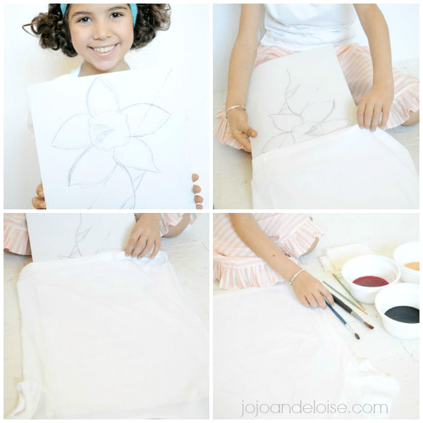 #watercolor paint with rit dye shirt #kids craft jojoandeloise.com