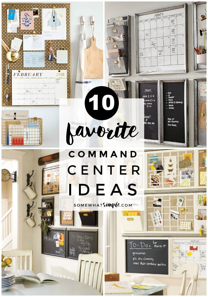Make the perfect family command center with our helpful tips and 10 creative command center ideas! #commandcenter #commandcenterideas #homeorganization #organization #householdmanagement via @somewhatsimple