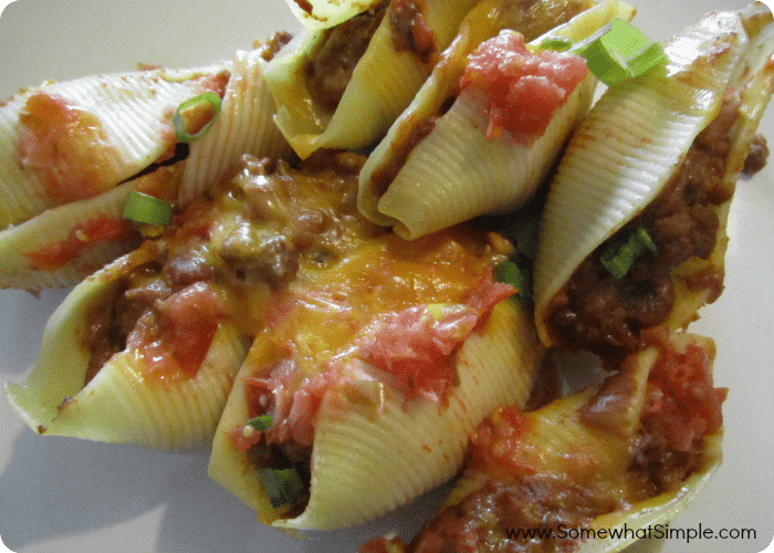 taco stuffed pasta shells