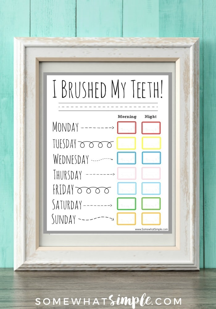 Teeth Brushing Incentive Chart