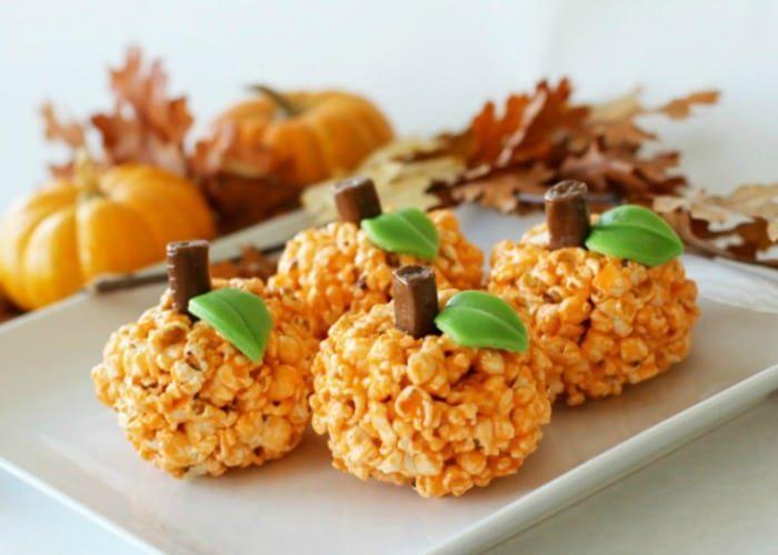 Halloween Treats – Pumpkin Popcorn Balls