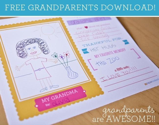 Grandparents Day Craft: Free Printable