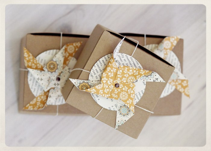 fall favor boxes, fall gift wrap, fall party