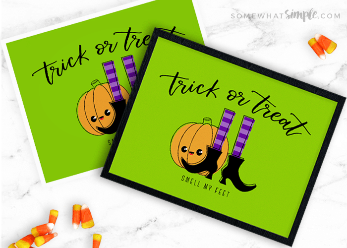 image about Trick or Treat Signs Printable identify Halloween Signs or symptoms - Trick or Handle Printable - Rather Very simple