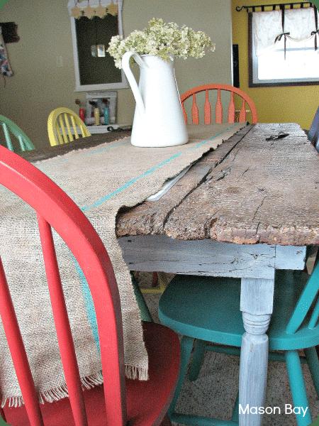 1 barn door table
