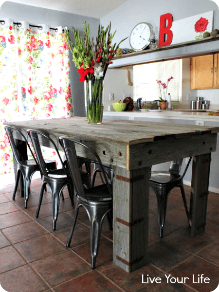 3 reclaimed wood table