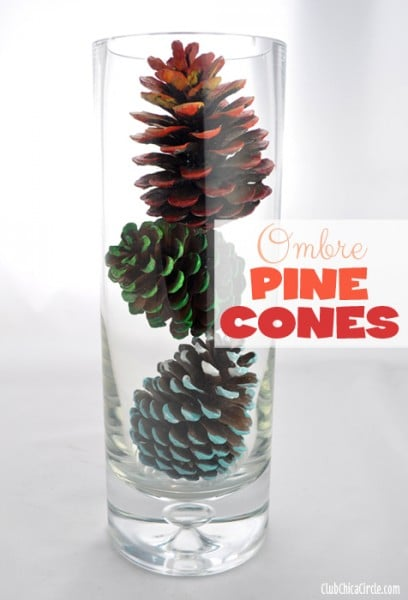 Blue-Ombre-Painted-Pine-Cone-Fall-Craft-Idea 2