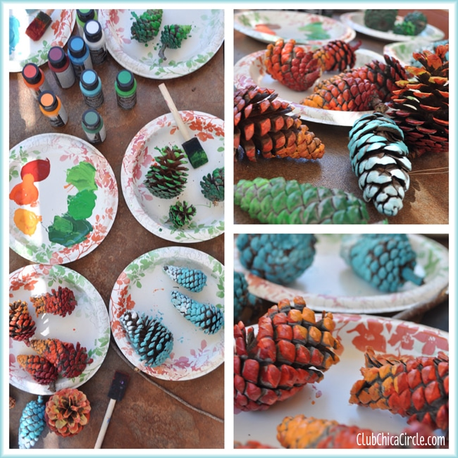 Blue-Ombre-Painted-Pine-Cone-Fall-Craft-Idea 5