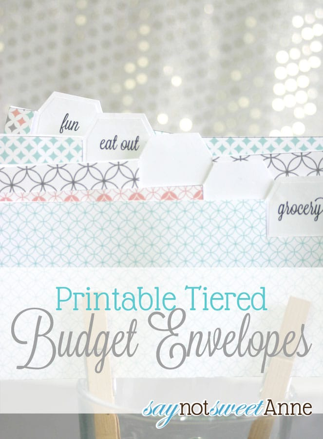 printable budget envelopes somewhat simple