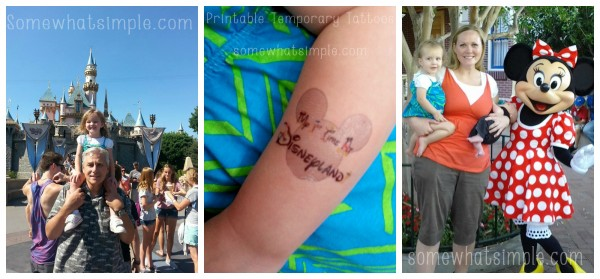My First Trip To Disneyland- print your own temporary tattoos at home with Silhouette tattoo paper
