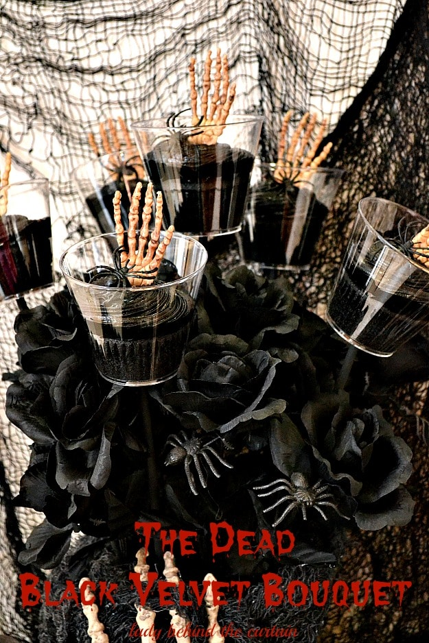 The Dead Black Velvet Bouquet - Lady Behind The Curtain