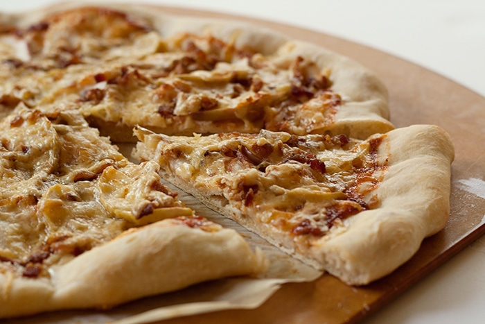 Apple Bacon Cheddar Pizza