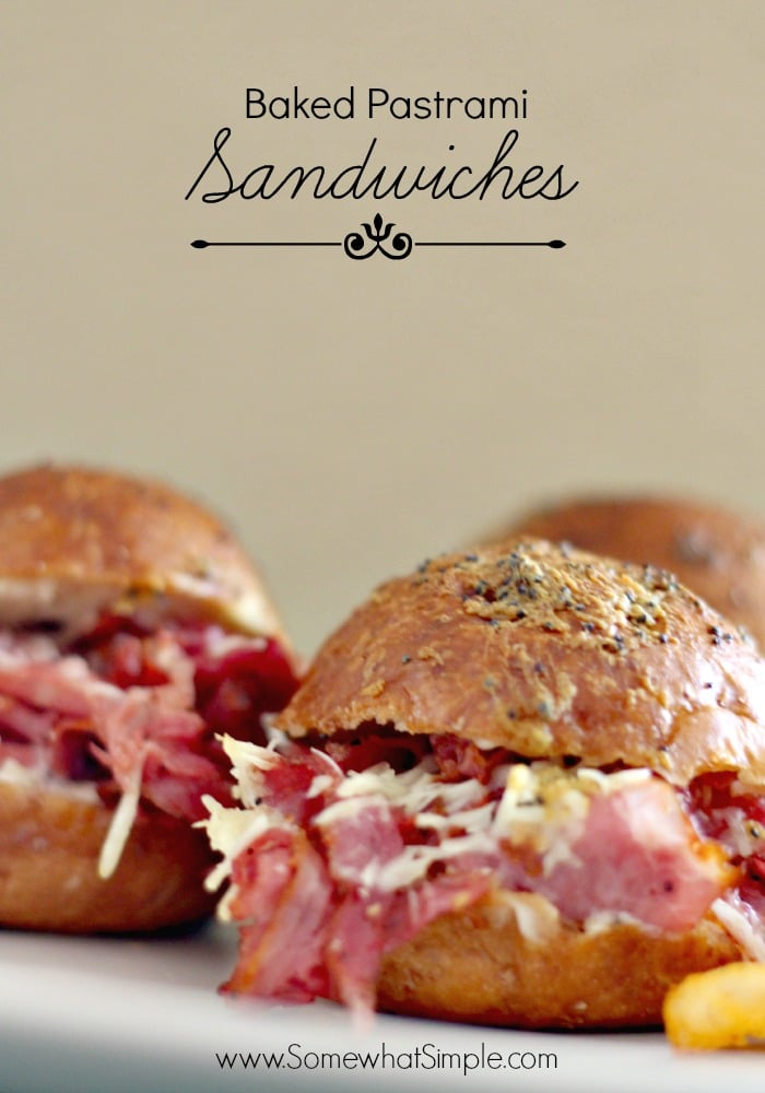 This baked pastrami sandwich recipe is perfectthose times when you need a quick and easy dinner idea. Loaded with hot pastrami on a toasted bun and topped with mustard and cheese, this recipe is easy to make unbelievably tasty! #pastramisandwich #hotpastramisandwichrecipe #easyrecipe #pastrami #lunch #baked via @somewhatsimple