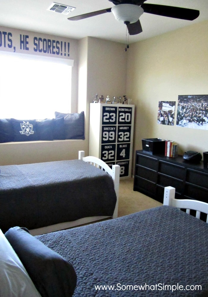 He Shoots He Scores Boys Hockey Bedroom Somewhat Simple