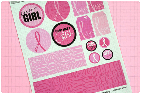 breast cancer awareness paper goods