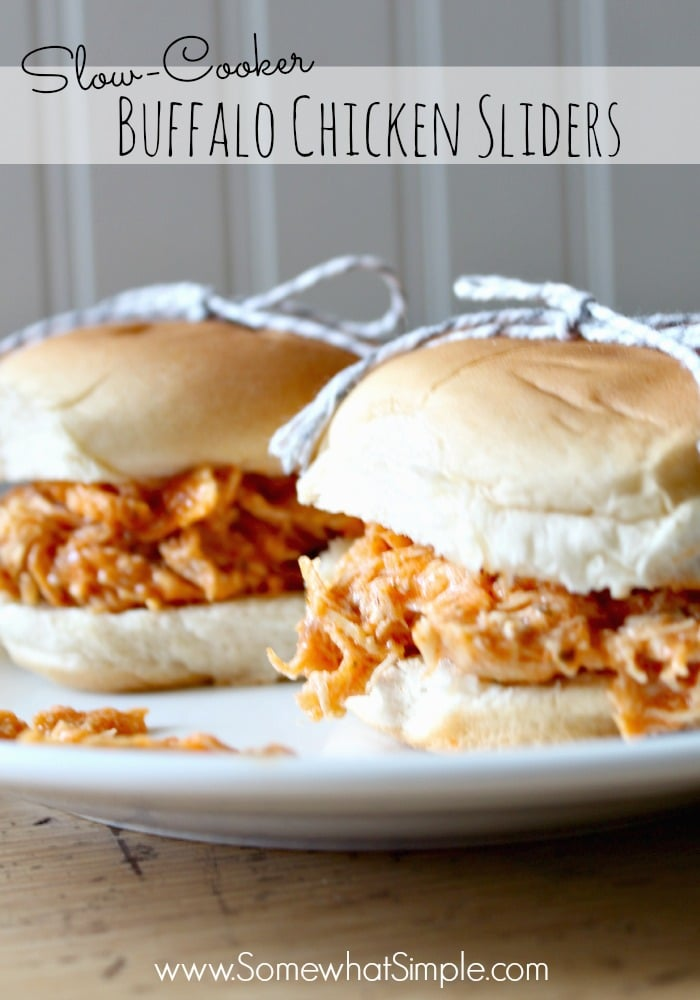 Slow Cooker Buffalo Chicken Sliders Recipe - Somewhat Simple