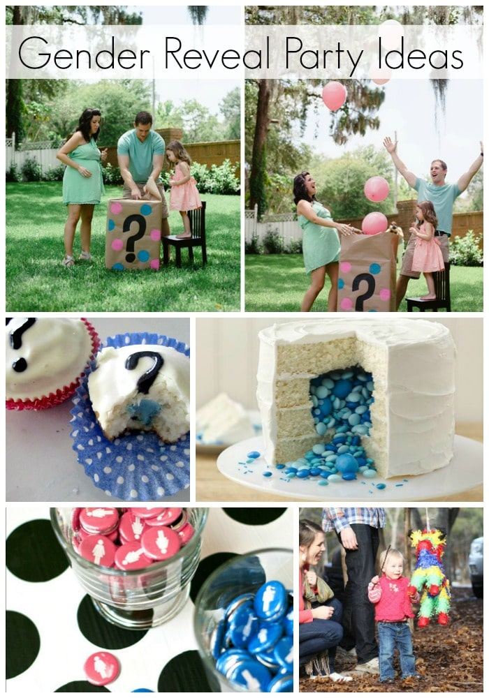 a collage of different simple gender reveal ideas
