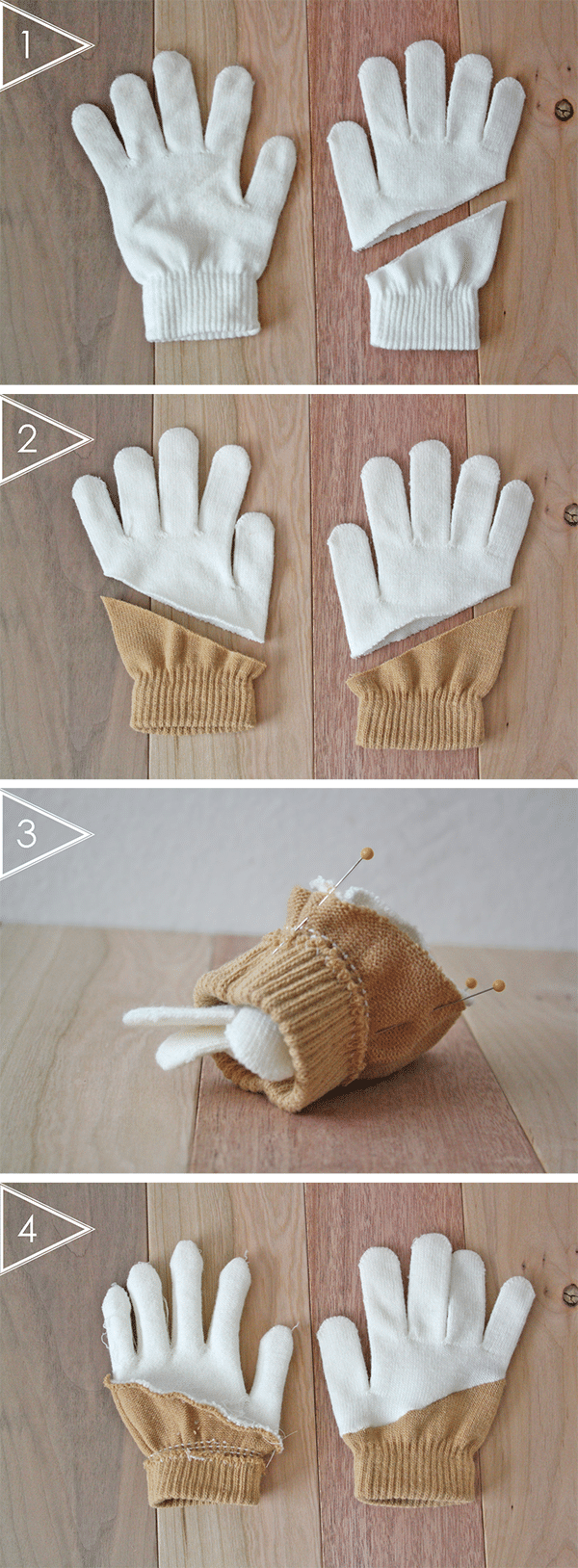 color-blocked gloves tutorial