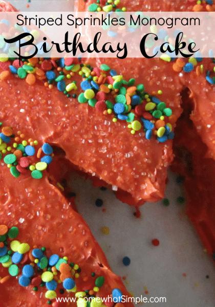 monogram birthday cake