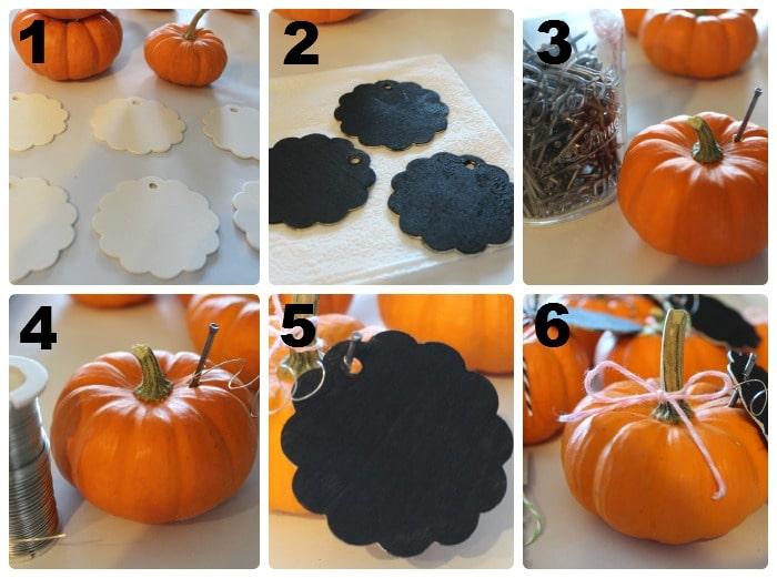 pumpkin place cards 1