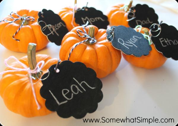 pumpkin place cards 2
