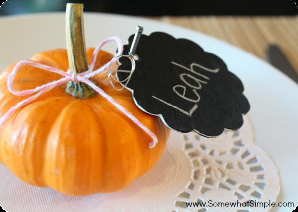 pumpkin place cards 4