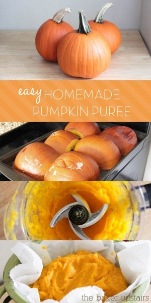 a step by step collage of how to make this easy homemade pumpkin puree recipe