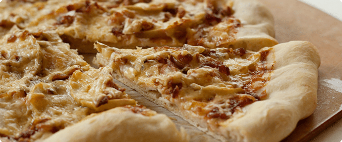 Apple Cheddar Bacon Pizza