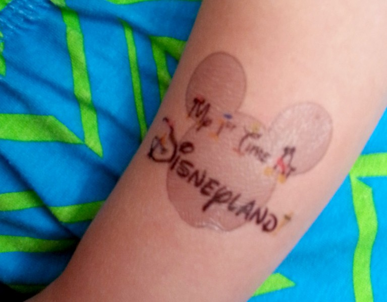 My First Time At Disneyland- printable temporary tattoo