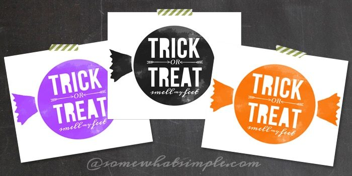 Free 8×10 Trick or Treat Halloween Printables