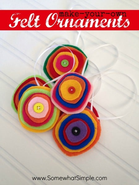 easy felt ornaments