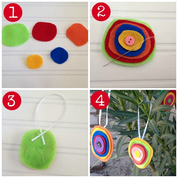 easy felt ornaments directions