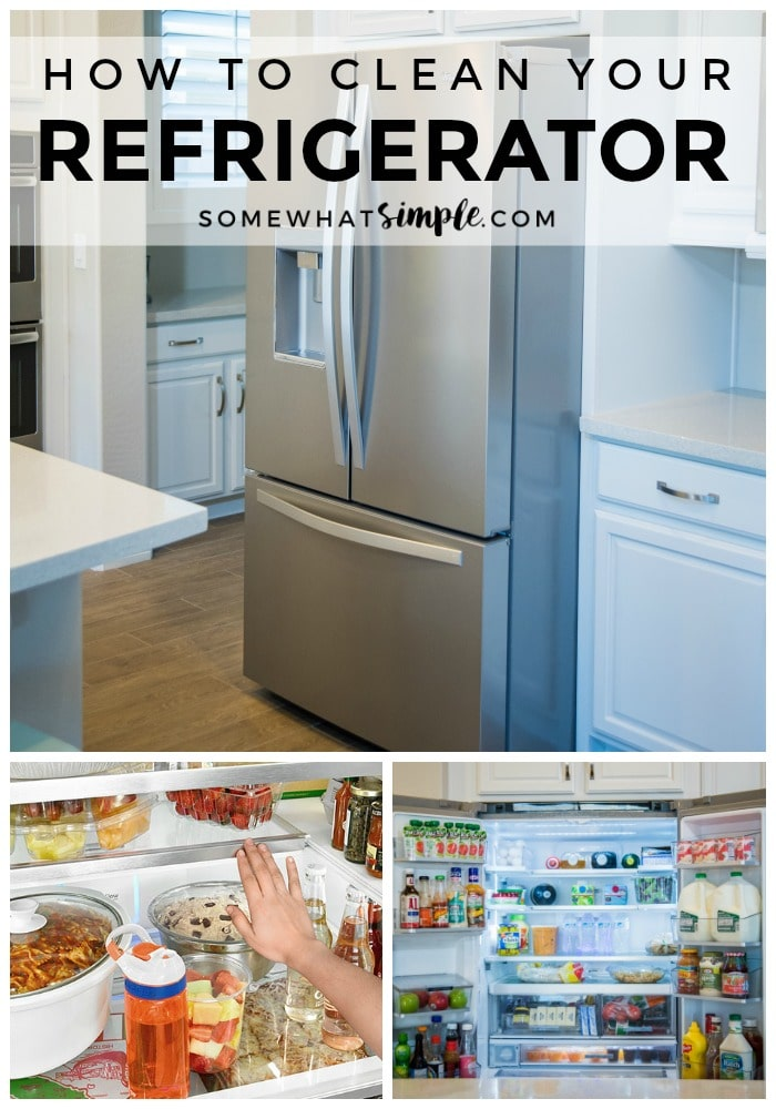 A peek inside my kitchen with my new-favorite fridge + 3 tips on how to clean your refrigerator. #springcleaning #cleaningtips #cleaninghacks #howto #kitchenorganization via @somewhatsimple