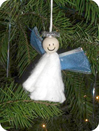 Tampon Angel Christmas Ornament