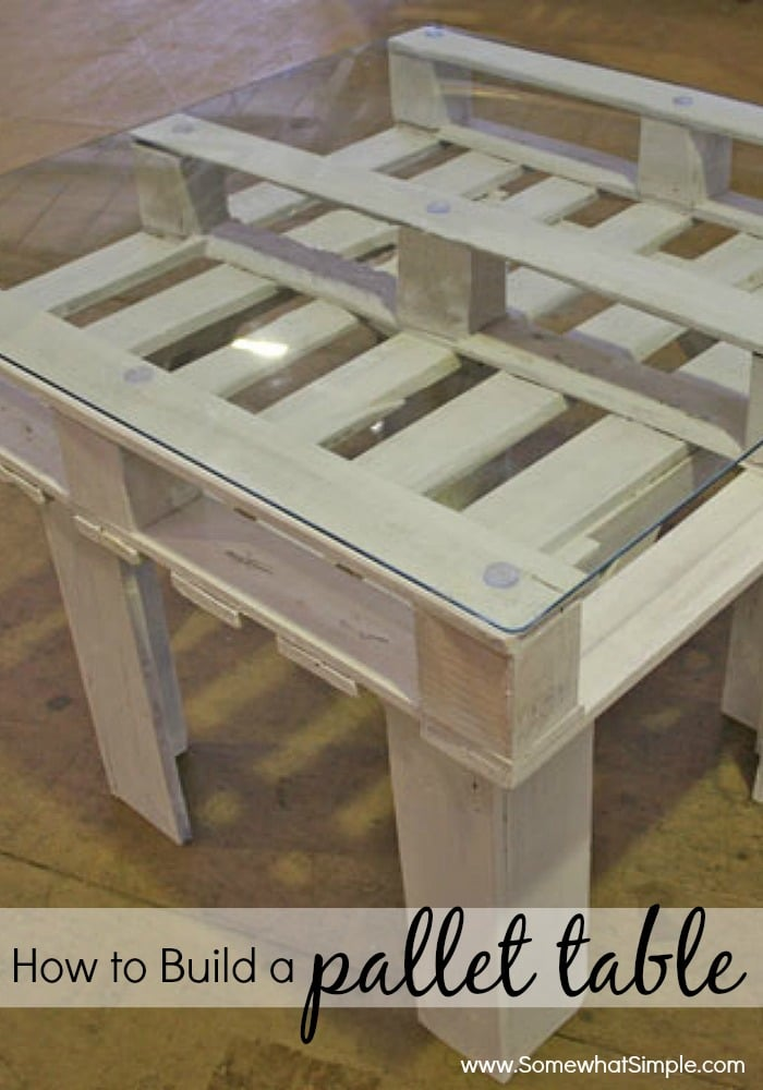 How To Build A Pallet Table Somewhat Simple