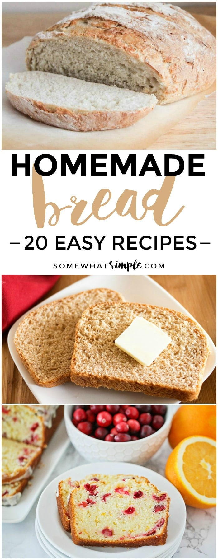 20 favorite homemade bread recipes that are simple to bake and taste fantastic!